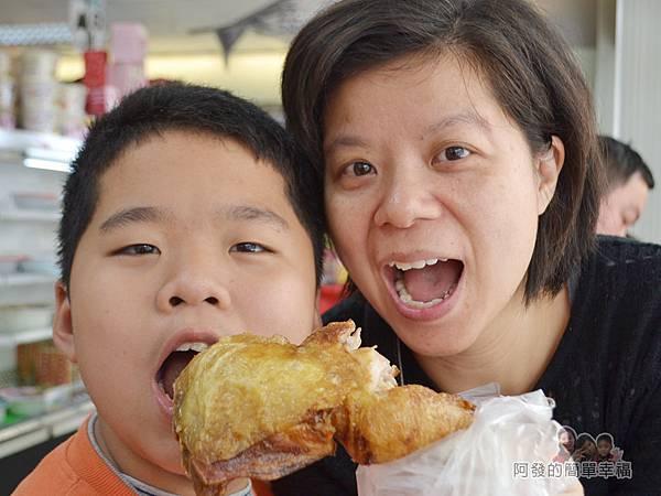 林合發油飯粿店19-雞腿頗為大隻