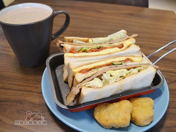 瑞比早午餐27-花生醬里肌豬排三明治+A套餐