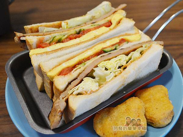 瑞比早午餐28-花生醬里肌豬排三明治