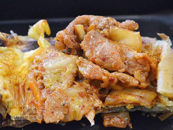 瑞比早午餐44-厚蛋餅(韓式泡菜豬)-內餡