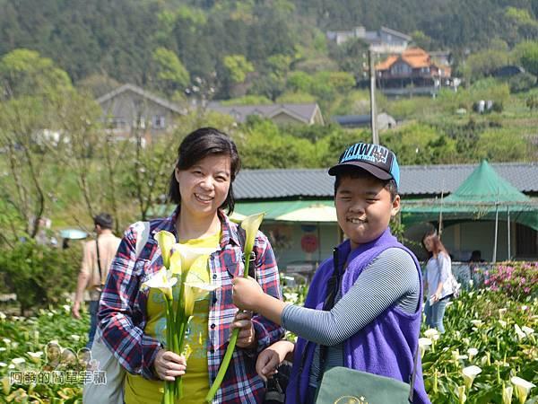 竹子湖海芋季21-送媽媽一朵花