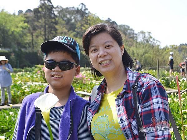 竹子湖海芋季22-母子留影