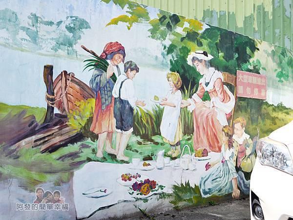 坑口彩繪村44-海山路上的教會-野餐