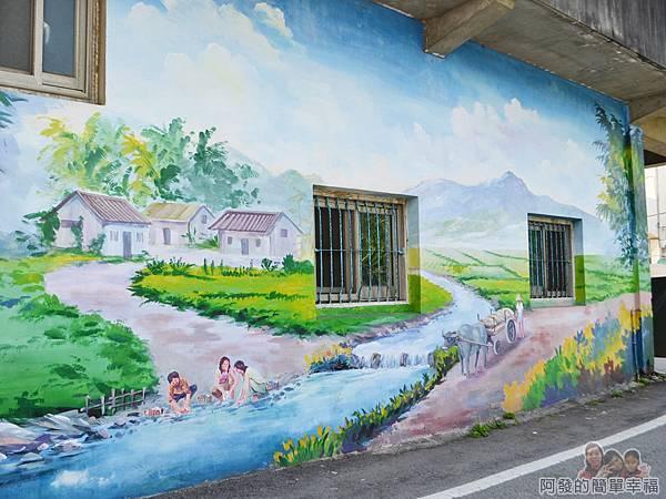 坑口彩繪村25-溪邊的洗衣農村婦女