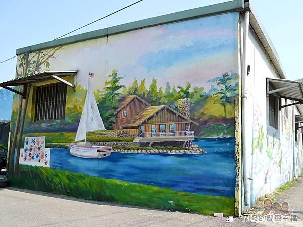 坑口彩繪村29-坑果路661巷78號旁湖畔彩繪
