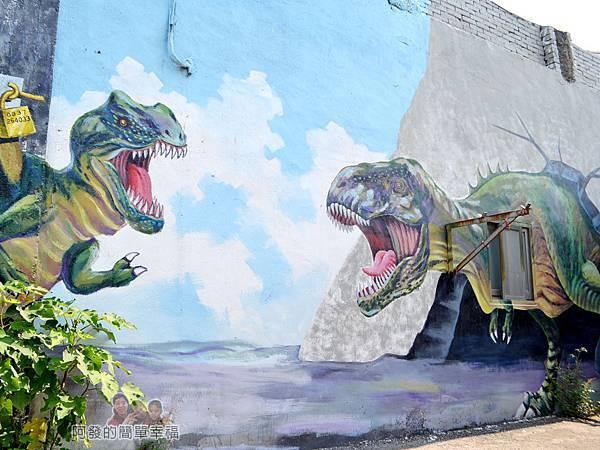 坑口彩繪村31-坑果路661巷78號牆面恐龍彩繪