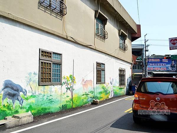 坑口彩繪村37-坑果路與海山路口牆面彩繪