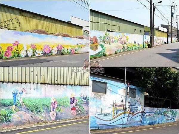 坑口彩繪村40-彩繪2巷組圖-主題為桃園農村生活與特色的大幅彩繪
