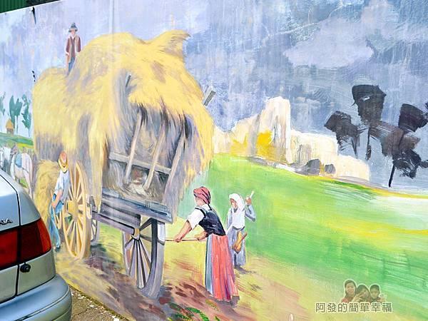 坑口彩繪村43-海山路上的教會-國外的農村生活