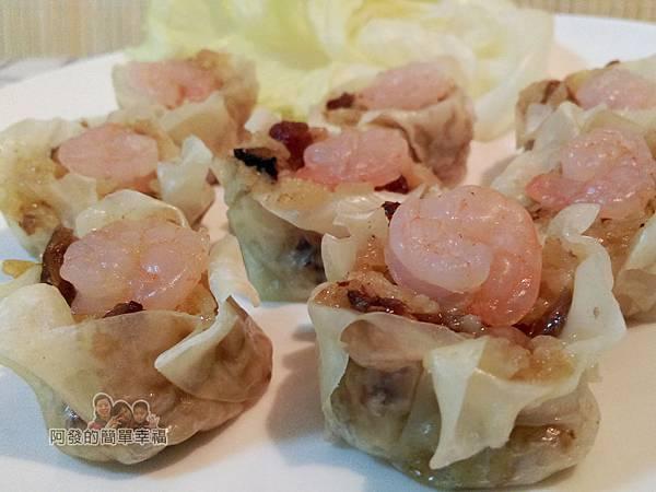 肉粽變燒賣07-肉粽蝦仁燒賣側寫