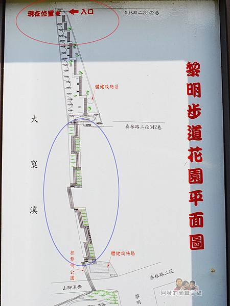 泰山繡球花步道08-黎明步道花園平面圖