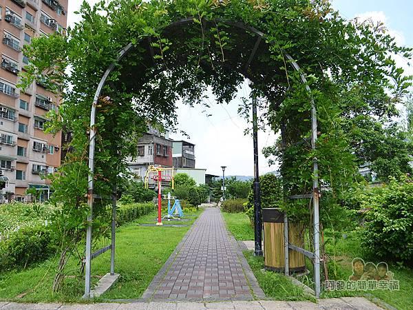 泰山繡球花步道15-綠草拱門