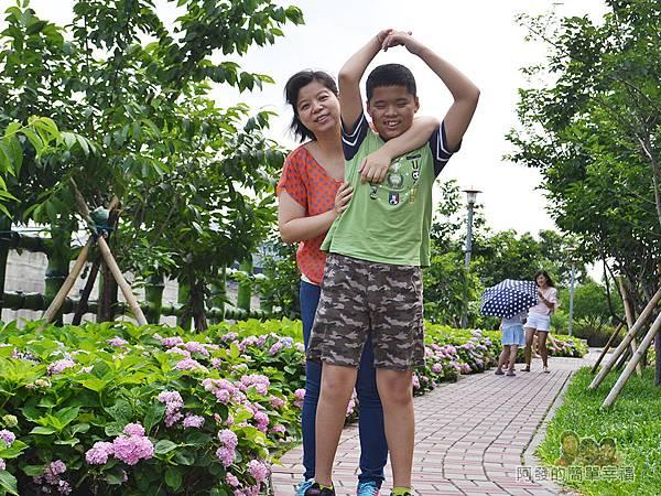 泰山繡球花步道25-開心的母子
