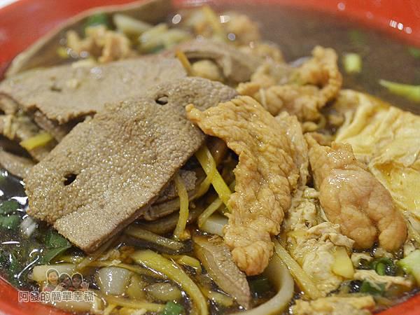 忠貞誠米干22-招牌米干-豬肝和肉片