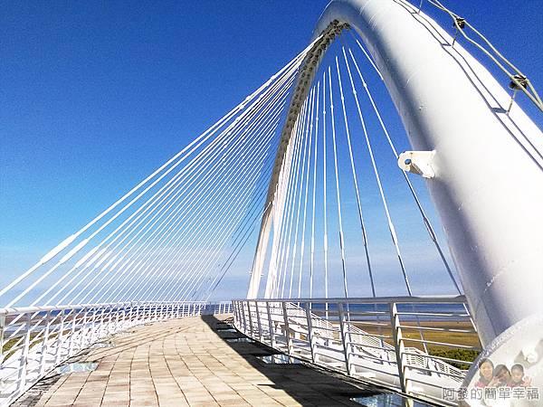 新竹市香山-豎琴橋11-豎琴橋頭特寫