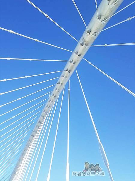 新竹市香山-豎琴橋13-主樑鋼纜與藍天