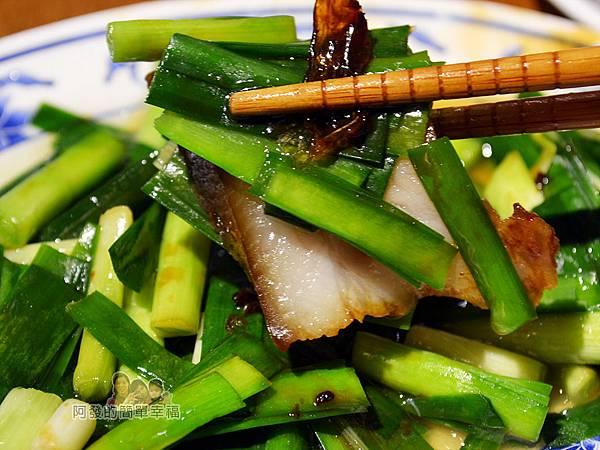 老曹餛飩(店面)22-燙韭菜+三層肉