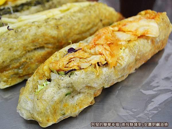 安嘉明鹹油條20-泡菜生菜鹹油條