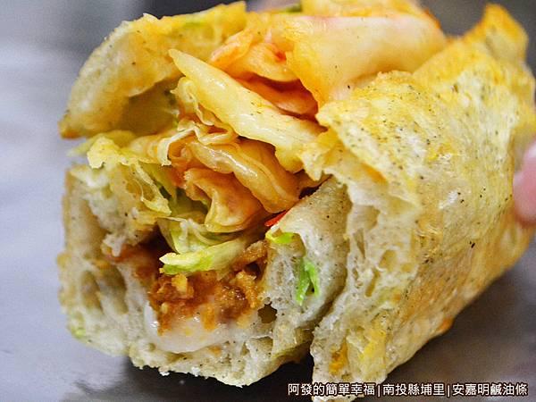 安嘉明鹹油條22-泡菜生菜鹹油條-剖面