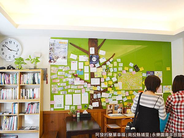 永樂園青年旅館08-大廳牆面