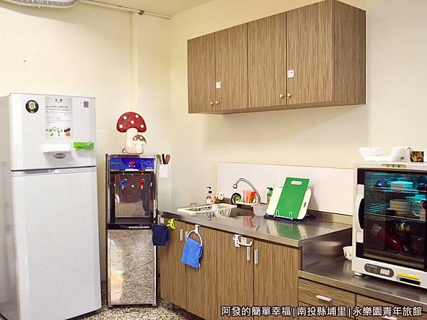永樂園青年旅館14-冰箱與洗烘碗區