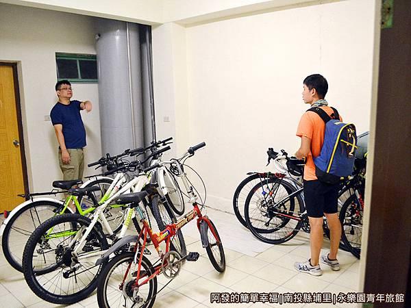 永樂園青年旅館18-自行車停放區