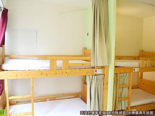 永樂園青年旅館31-背包宿舍的一個單人床位(上下舖)