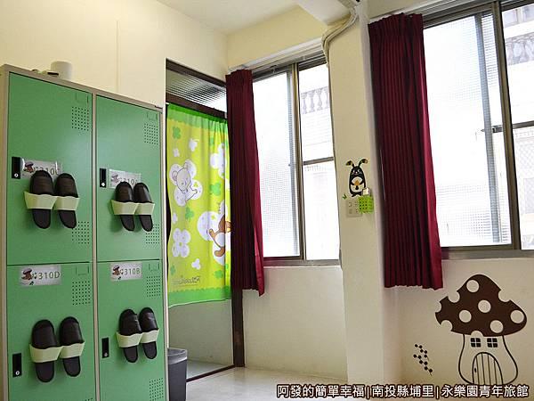 永樂園青年旅館32-背包宿舍的一個單人床位-置物櫃