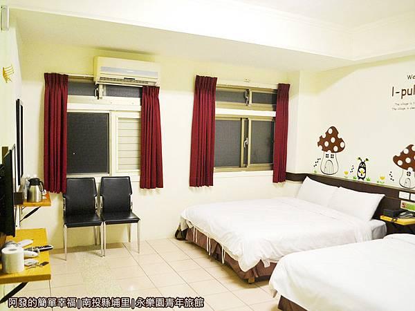 永樂園青年旅館34-雅緻4人房(兩大床)