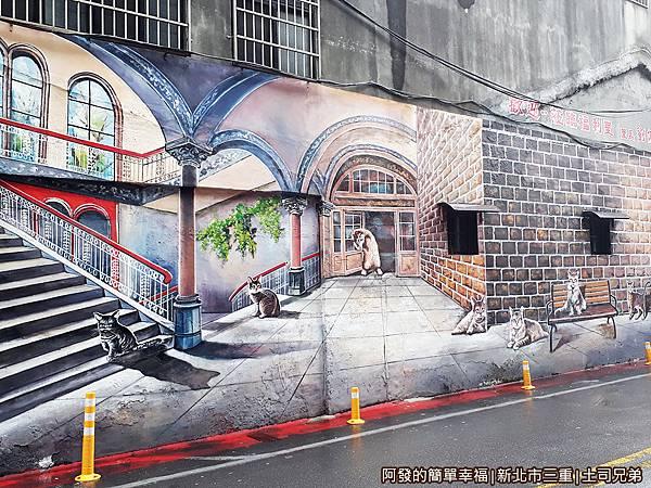 土司兄弟24-喵星人彩繪牆