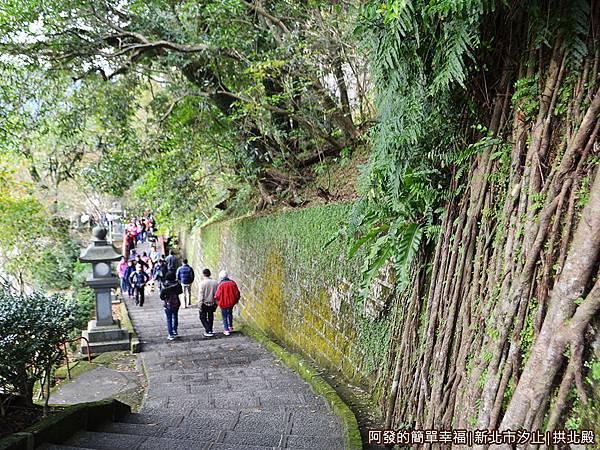 汐止拱北殿08-登山步道由上往下一景