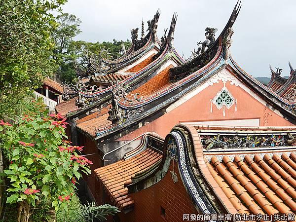 汐止拱北殿21-拱北殿具歷史風貌的屋頂