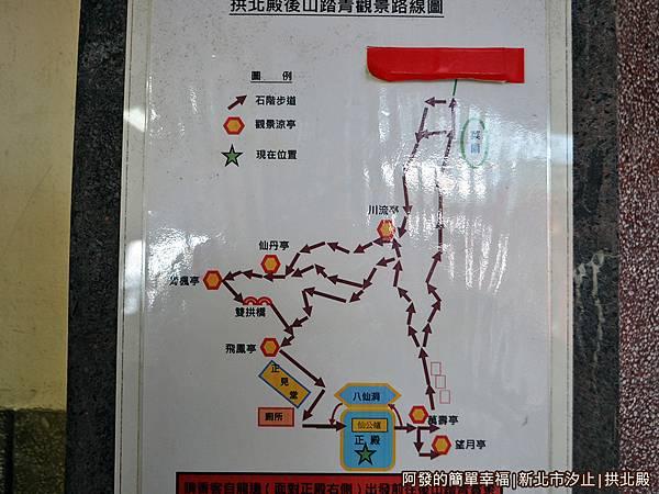 汐止拱北殿26-後山踏青觀景路線圖