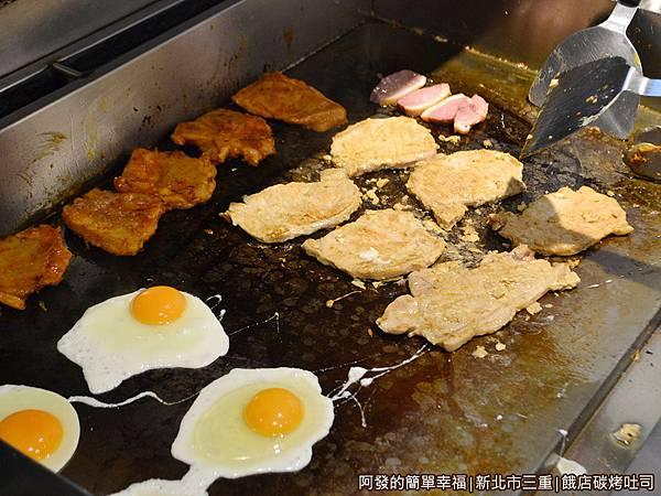 餓店碳烤吐司08-煎檯