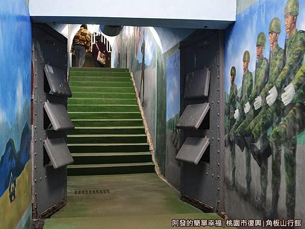 角板山40-戰備隧道內的厚實防彈鋼門