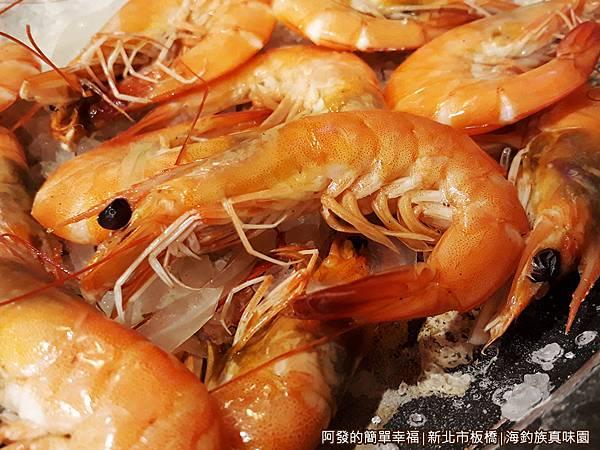 海釣族真味園15-鹽烤活海蝦特寫