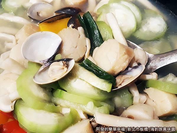 海釣族真味園22-香蒜燴干貝特寫