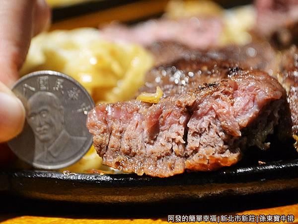 孫東寶牛排26-超大塊牛排剖面