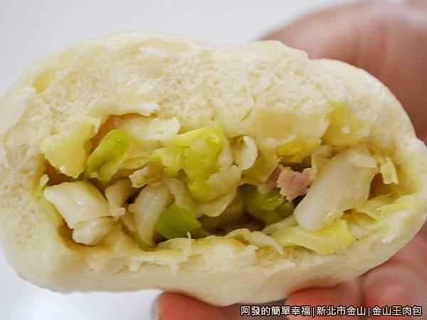 金山王肉包15-高麗菜包剖面