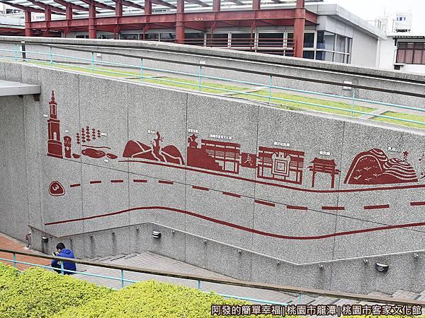 桃園市客家文化館13-文化館園區中地標剪影圖