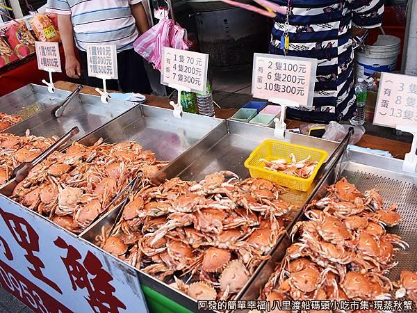 八里渡船碼頭小吃市集07-不同尺寸不同價格.JPG