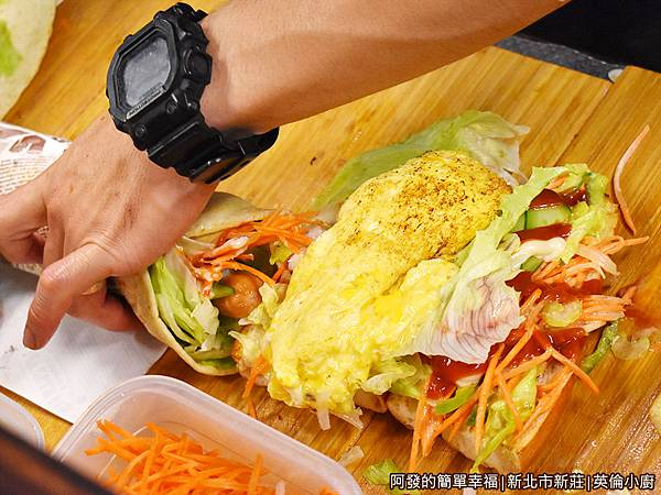 英倫小廚09-料理台捲好捲滿.JPG