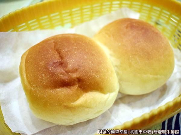 唐老鴨牛排館09-餐包.JPG