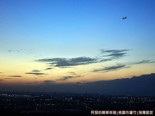 海灣星空18-夕陽美景與飛機翱翔.JPG