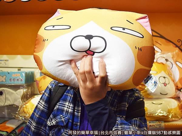 987動感樂園21-蠟筆小新X白爛貓翻轉頭型抱枕.JPG