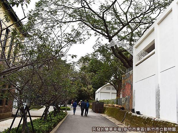 新竹市立動物園06-玻工館旁的林蔭步道.JPG