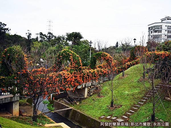 永吉公園11-2-炮仗花拱門階梯外觀.JPG