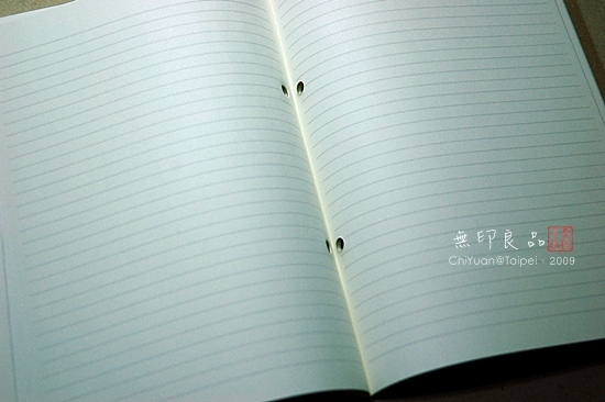 無印良品。再生紙筆記本(月記事)05