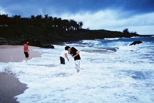 27.白砂,趁著雨停的短暫時間踏踏浪