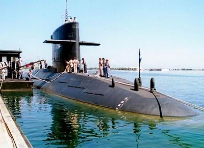 """台湾海军海龙级""""海虎""""794号潜艇"""